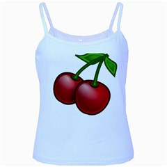 Cherries Baby Blue Spaghetti Tank