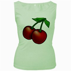 Cherries Women s Green Tank Top