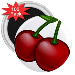 Cherries 3  Magnets (100 pack)