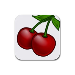 Cherries Rubber Square Coaster (4 pack)