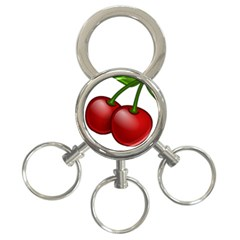 Cherries 3-Ring Key Chains