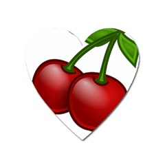 Cherries Heart Magnet