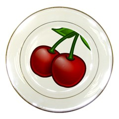 Cherries Porcelain Plates
