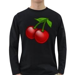 Cherries Long Sleeve Dark T-Shirts