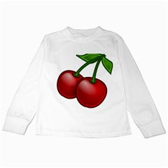 Cherries Kids Long Sleeve T-Shirts