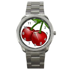 Cherries Sport Metal Watch