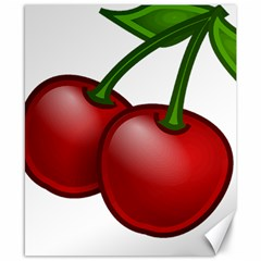 Cherries Canvas 8  x 10