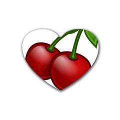 Cherries Heart Coaster (4 pack)