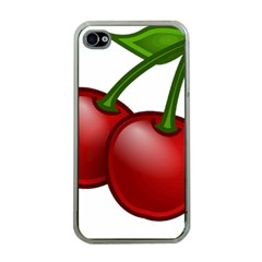 Cherries Apple iPhone 4 Case (Clear)