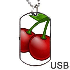 Cherries Dog Tag USB Flash (One Side)