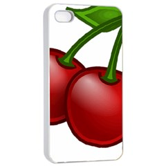 Cherries Apple iPhone 4/4s Seamless Case (White)