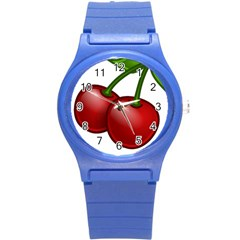 Cherries Round Plastic Sport Watch (S)