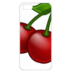 Cherries Apple iPhone 5 Seamless Case (White)