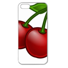 Cherries Apple Seamless iPhone 5 Case (Clear)