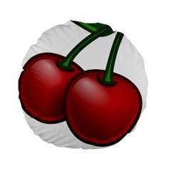Cherries Standard 15  Premium Round Cushions