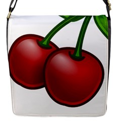 Cherries Flap Messenger Bag (S)