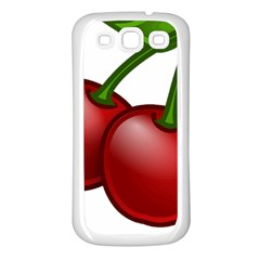 Cherries Samsung Galaxy S3 Back Case (White)