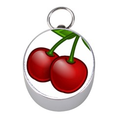 Cherries Mini Silver Compasses