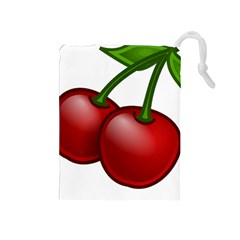 Cherries Drawstring Pouches (Medium)