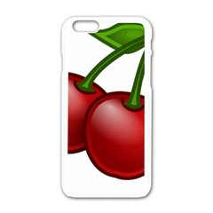 Cherries Apple iPhone 6/6S White Enamel Case