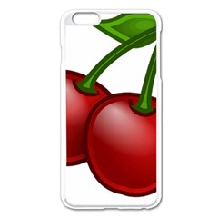 Cherries Apple iPhone 6 Plus/6S Plus Enamel White Case
