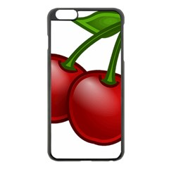 Cherries Apple iPhone 6 Plus/6S Plus Black Enamel Case