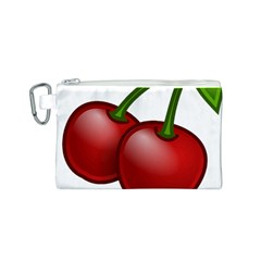 Cherries Canvas Cosmetic Bag (S)