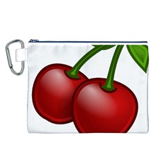 Cherries Canvas Cosmetic Bag (L)