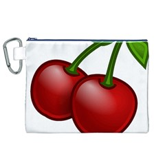 Cherries Canvas Cosmetic Bag (XL)
