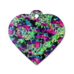 Blended texture              Dog Tag Heart (One Side)