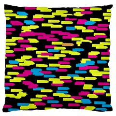 Colorful strokes on a black background       Standard Flano Cushion Case (Two Sides)
