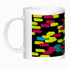 Colorful strokes on a black background             Night Luminous Mug