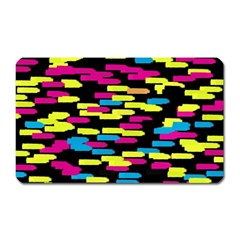 Colorful strokes on a black background             Magnet (Rectangular)
