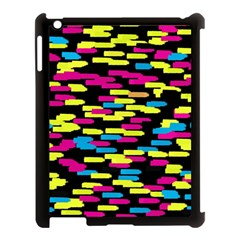 Colorful strokes on a black background       Apple iPad Mini Hardshell Case (Compatible with Smart Cover)