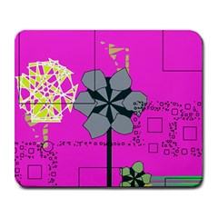 Flowers and squares              Large Mousepad
