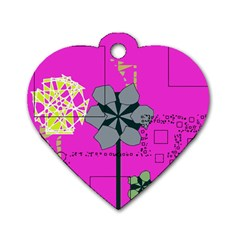 Flowers and squares              Dog Tag Heart (One Side)