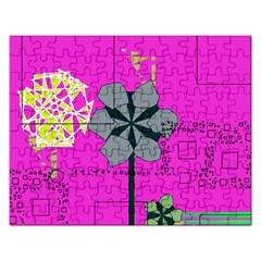 Flowers and squares              Jigsaw Puzzle (Rectangular)