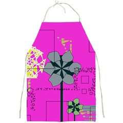 Flowers and squares              Full Print Apron