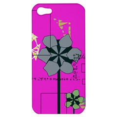 Flowers and squares        Apple iPhone 5 Hardshell Case