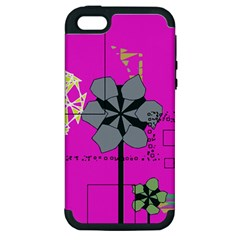 Flowers and squares        Apple iPod Touch 5 Hardshell Case