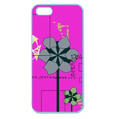 Flowers and squares        Apple Seamless iPhone 5 Case (Clear)