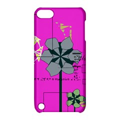 Flowers and squares        Apple iPhone 5 Hardshell Case with Stand