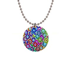 Colorful Ovals              1  Button Necklace
