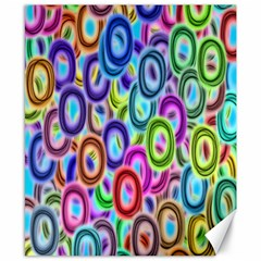 Colorful ovals              Canvas 8  x 10