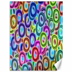 Colorful ovals              Canvas 36  x 48