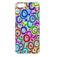 Colorful ovals        Apple iPhone 5 Seamless Case (White)