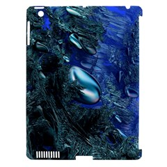 Shiny Blue Pebbles Apple iPad 3/4 Hardshell Case (Compatible with Smart Cover)