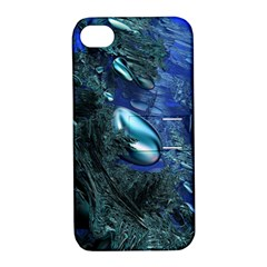 Shiny Blue Pebbles Apple Iphone 4/4s Hardshell Case With Stand