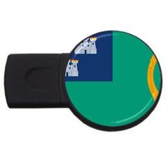 City of Dublin Flag USB Flash Drive Round (2 GB)