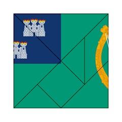 City of Dublin Flag Acrylic Tangram Puzzle (6  x 6 )